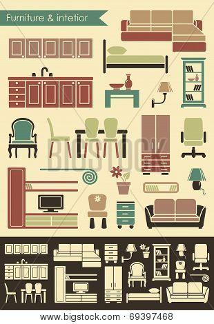 Furniture & interior icons