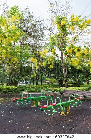The Colorful Plaything In Benjasiri Park, Bangkok