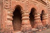 picture of radha  - Arches of Shyamroy Temple made of terracotta Bishnupur India - JPG