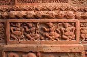 pic of radha  - Figurines made of terracotta at Madanmohan Temple Bishnupur West Bengal India  - JPG