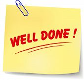 pic of job well done  - Vector illustration of well done paper message on white background - JPG