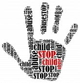 stock photo of abused  - Stop child abuse - JPG