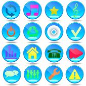 stock photo of mass media  - Audio Group House Badge Tool Button User mass media Networks - JPG