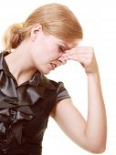 foto of sinus  - Headache migraine and sinus ache - JPG