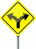 stock photo of diffraction  - Fork in the road sign - JPG