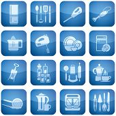 pic of kitchen utensils  - Vector icons set saved as an Adobe Illustrator version 8 EPS file format easy to edit, resize or colorize.