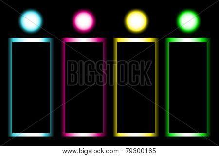 Vector Glow Banner Design Template.