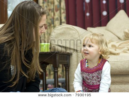 A Young Girl At Storytime