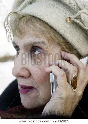 Senior Woman Talking