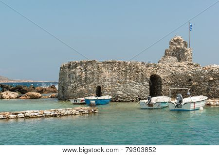 Old Venetian castle in Naoussa village