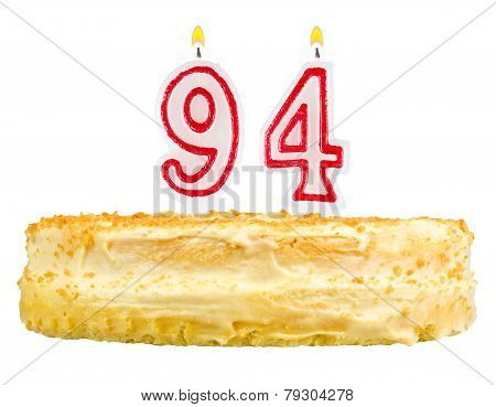 Birthday Cake With Candles Number Ninety Four
