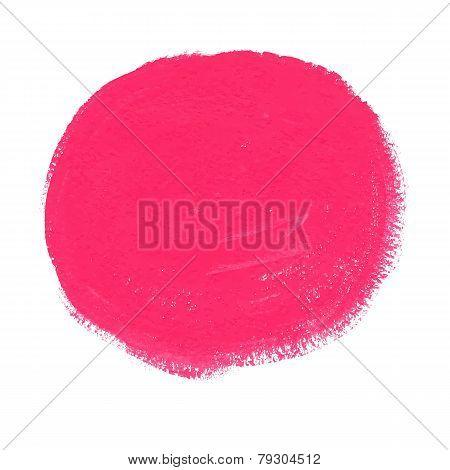 Pink acrylic paint vector circle