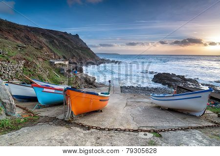 Fishing Boats At Priest's Cove