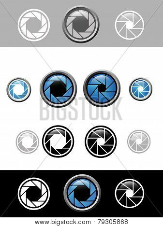 vector camera shutter apertures design