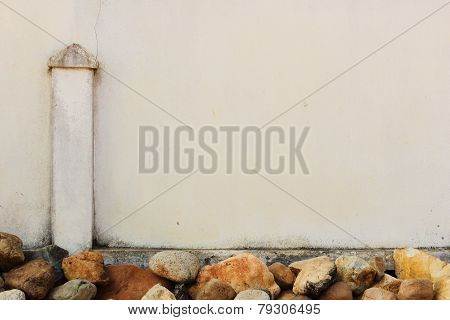 Fence Decorate By Stone