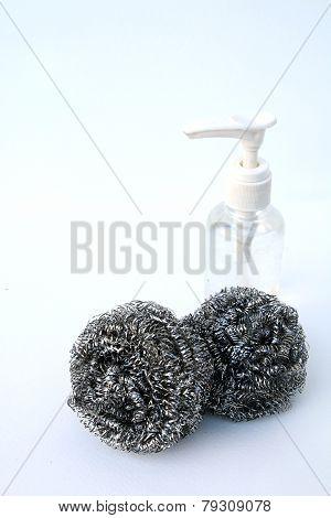 Steel Wool And Dishwashing Liquid
