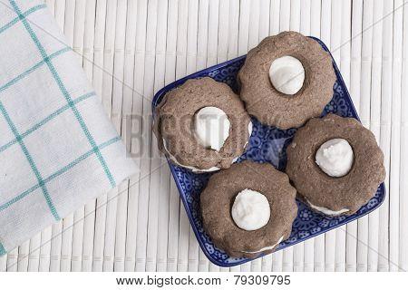 Cookies On White Wood