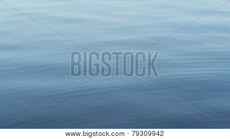 Gentle surface of a real water lake