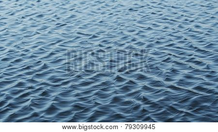 Ripples on a real water lake surface