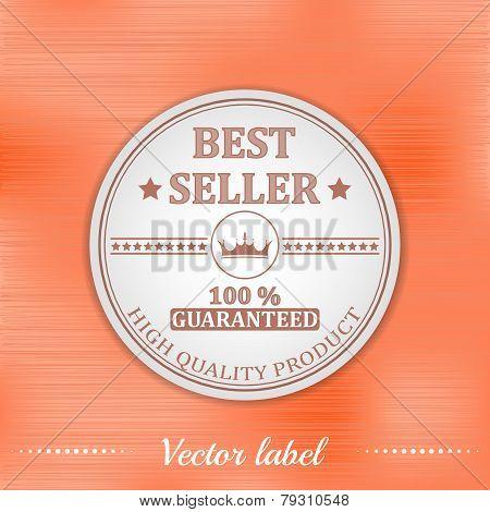 Best seller guaranteed label or badge