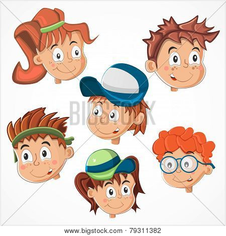 Children's faces