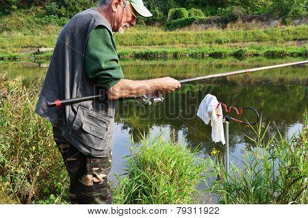 Senior Fisherman Fishing