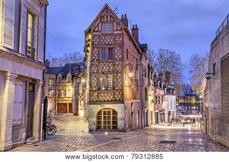 Half-timbered House In The Center Of Orleans