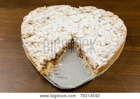 Apple Pies Heart Shaped for Valentine's Day