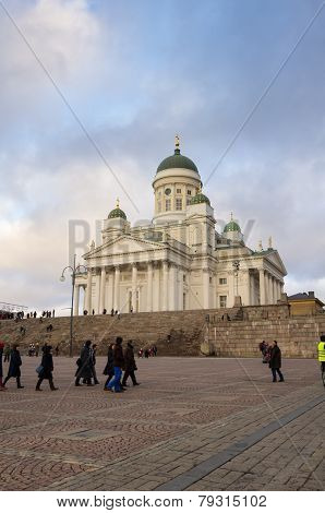 Helsinki Cathedral In The Evening