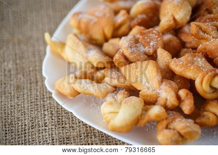 Sweet Pastry Deep Fried And Sprinkled