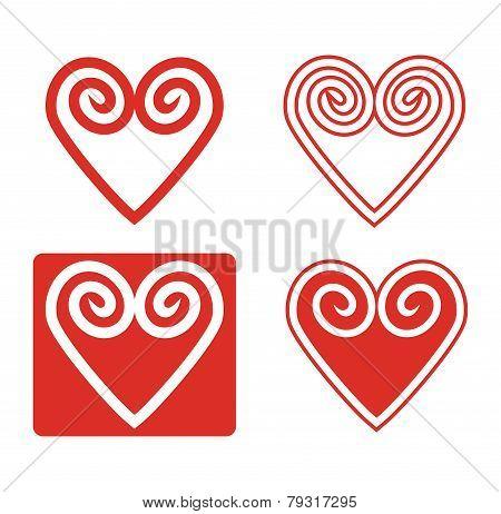 Abstract Hearth Icon Set