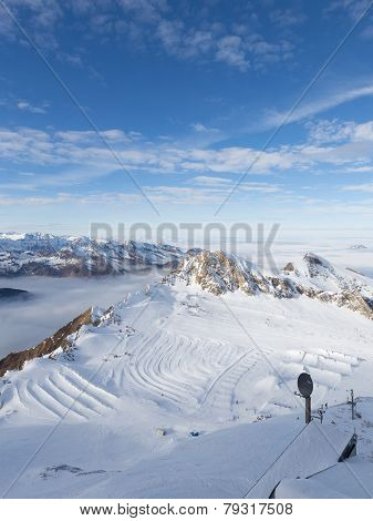 Ski Slope In The Alps