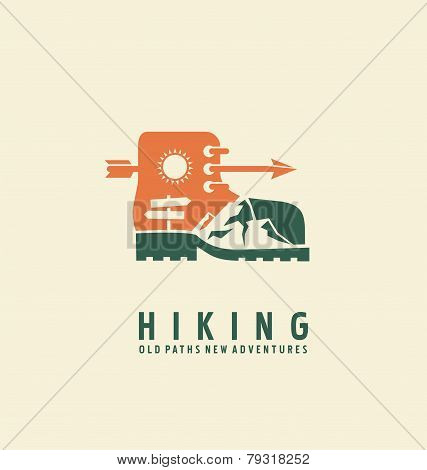Hiking symbol design template