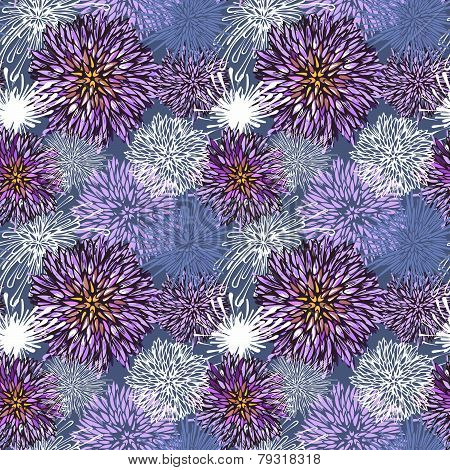 Seamless hand-drawn flower pattern