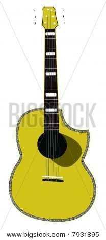 Detailed Vector Acoustic Guitar