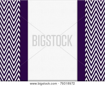Purple And White Chevron Zigzag Frame With Ribbon Background
