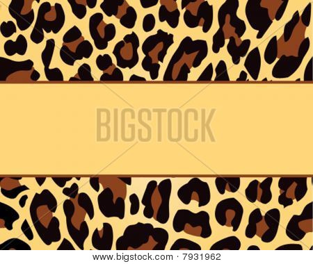 Leopard Print Card Background Template