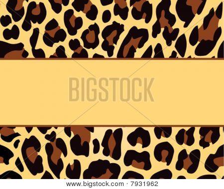 leopard print invitations templates - leopard print card background image photo bigstock