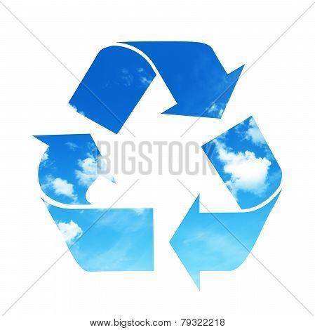 Recycle sky symbol