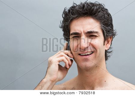 Man On His Cell Phone