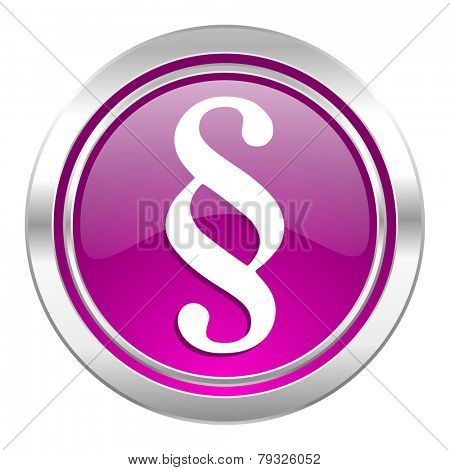 paragraph violet icon law sign