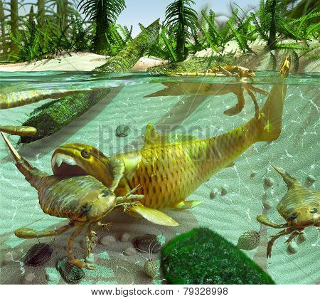 Devonian Lake Cycle Of Life