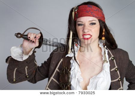 Angry Pirate Woman