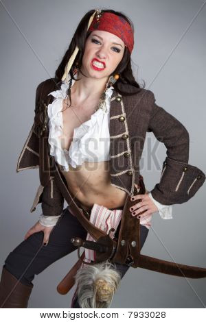 Sexy Pirate Woman