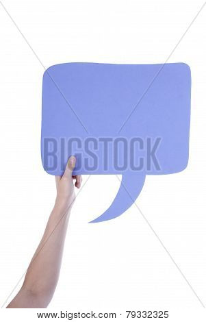 Light Purple Empty Speech Balloon