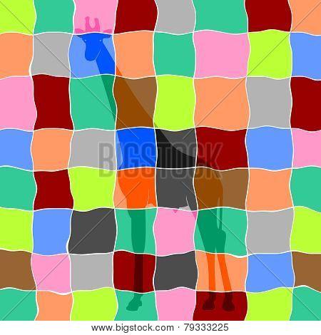 Giraffe In Mosaic
