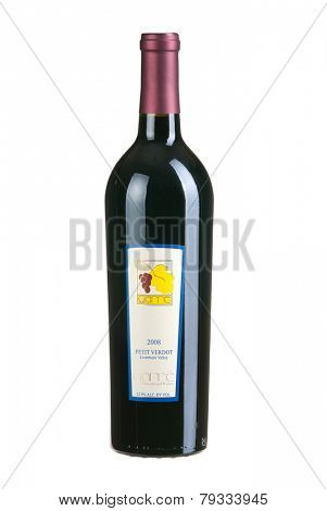 Hayward, CA - January 1, 2015: Bottle of Garre Vineyeard & Winery Petit Verdot red Wine from Livermore Valley, California