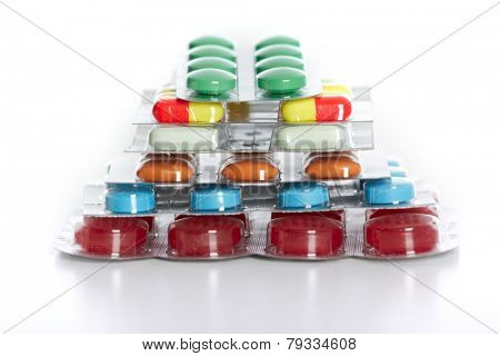 Many Medical pills. Health care Pharmaceutical background