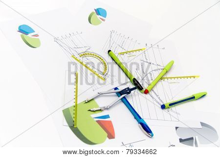 Drawing tools with compass