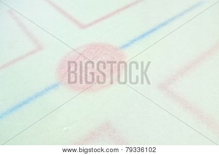 Hockey Arena Ice Faceoff Circle